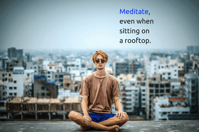 Healthy lifestyle tips - meditate