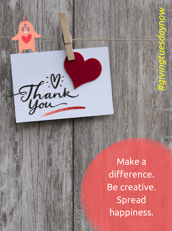 giving tuesday now thank you card