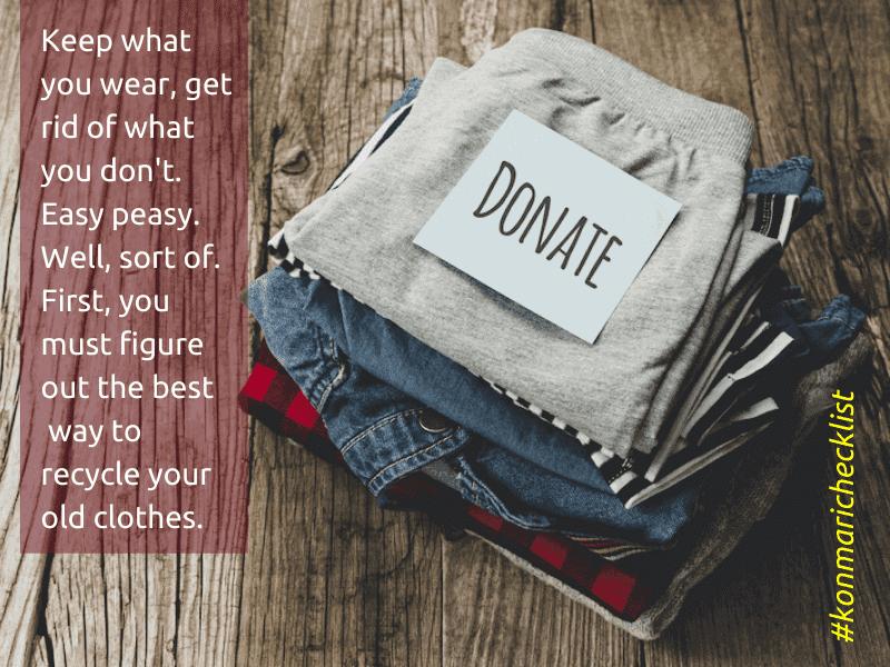 konmari checklist donate old clothes