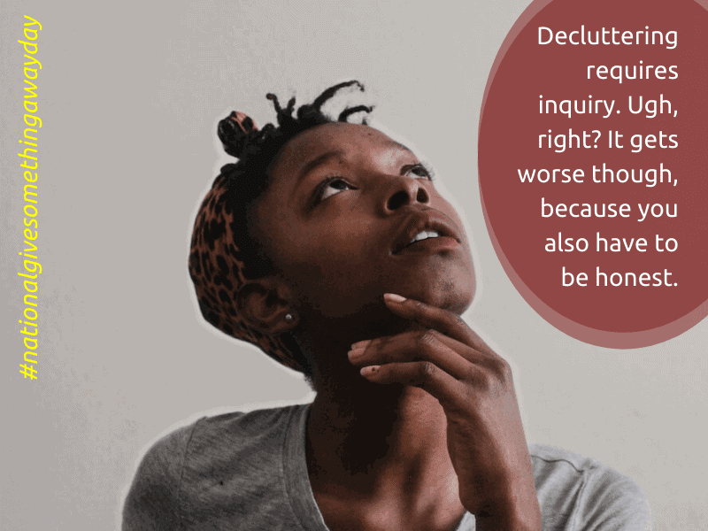 african american woman pondering